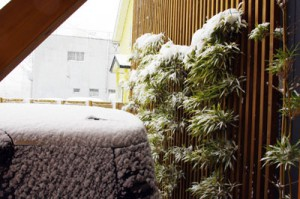 花乃舎雪景色